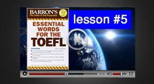 آموزش ویدئوی لغات ضروری تافل : درس 5