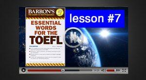 آموزش ویدئوی لغات ضروری تافل : درس 7
