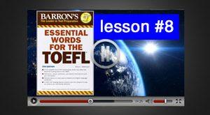 آموزش ویدئوی لغات ضروری تافل : درس 8