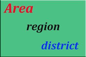 area,آموزش زبان انگلیسی,زبان انگلیسی,یادگیری زبان انگلیسی,منابع تقویت مکالمه انگلیسی,تقویت مهارت خواندن,تقویت مهارت نوشتاری, کاربرد لغات,یادگیری واژگان,region