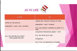 کاربرد as در انگلیسی