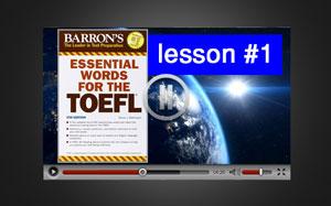 آموزش ویدئوی لغات ضروری تافل : درس 1