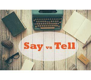 تفاوت tell و say