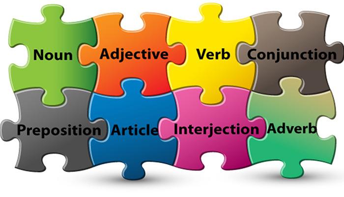 اجزاء کلام در زبان انگلیسی